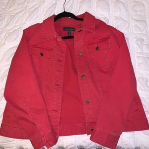 Ralph Lauren red jean jacket